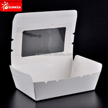 Disposable salad food packaging with window