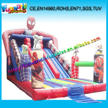 2015 Commercial Inflatable Spiderman Slide,Inflatable Slide For Sale (FUNSL-4136)