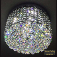 modern LED lustre K9 clear crystal pendant ceiling chandelier, crystal celling lighting,remotel control celing crystal lighting