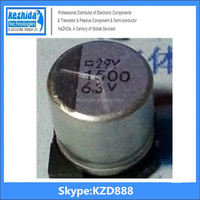 Capacitor Aluminium 1500UF 6.3V 20% SMD 320mA 7000Hours 10x10mm EEE-0JA152P 105C (best price) UT KZD Series