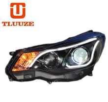 TLZ 13-14 SUBARU XV headlight conversion daytime running lamp assembly Q5 double optical lens xenon headlight assembly