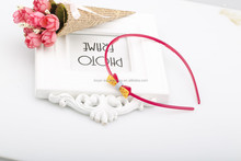 Wholesale multi color resin hair band newest fashion design candy color plastic bow headband for kid girls