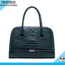 lady custom metal logo bag hot sale alibaba china croc leather