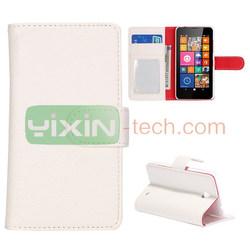 Hot Sales leather phone case for Nokia Lumia 630 Dual SIM flip case cover