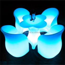 led outdoor furniture bar decortion rechargeable RGB Led Table / led coffee table/marquee led outdoor furniture bar chair table