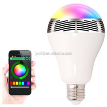 Smart Led Light Bulb With Speaker with mobile phone