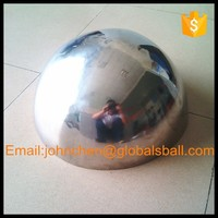 hollow hemisphere, mirror polished stainless steel half sphere