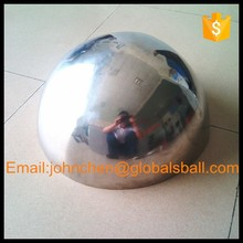 hollow hemisphere, mirror polished stainless steel half sphere