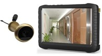 """5.8G wireless motion detection peephole camera 5"""" HD lcd monitor DVR"""