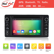 With Android 4.4.4 System Double Din Car GPS Navigation For Mistubishi Outlander Lancer Built-in Wifi Bluetooth GPS DVD