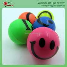 China cheap 32mm rubber ball with smile design