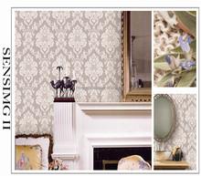New waterproof pvc engineering big flower wallpaper vinyl wallpaper