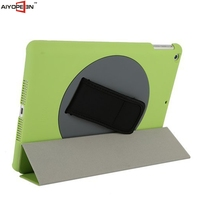 New Design Rotating 360 degree back cover hard case for ipad 5 handheld , hot sales for iPad 5 portable case
