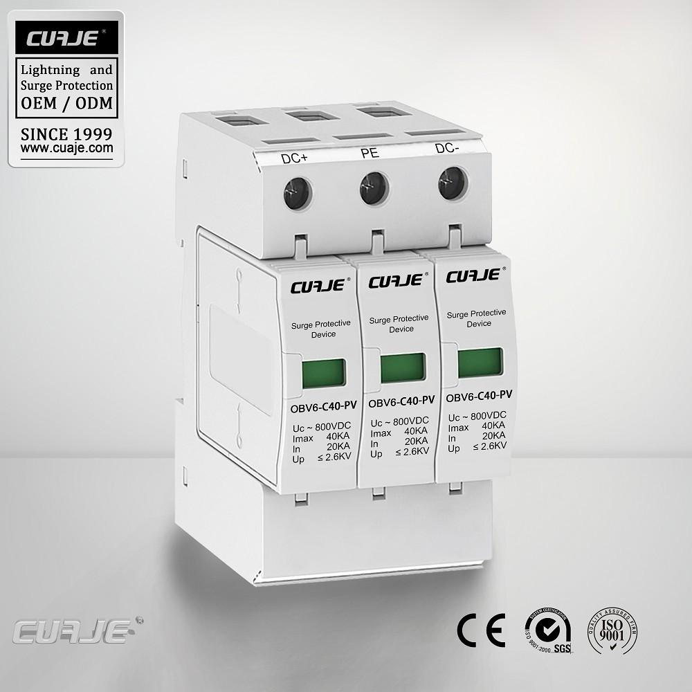 Оптовая цена продажи горячих разрядник для Солнечных Фотоэлектрических (PV) Системы, DC устройство защиты от перенапряжения, молнии опн
