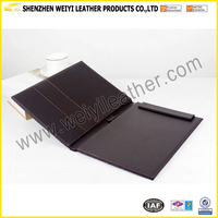 Wholesale Stylish Fashion Promotional School&Office Customized Durable Personal Gift Custom A4 A5 B5 Leather Magazine Folder