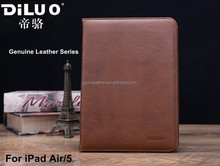 Genuine Handmade Real Leather Flip Tablet Cover Case For iPad Air/5