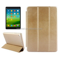 Delicate Leather Texture Horizontal Flip Leather Case with 2 Gears Holder & Sleep / Wake-up Function for Xiaomi Mi Pad(Gold)