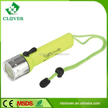 2015 new type made of alloy and high-density hard plastic 180LM powerful led diving torch