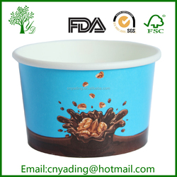 ice cream paper cup and lid,printed ice cream cups,ice cream paper cups container