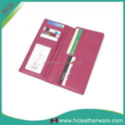 Hot New Products for 2015 Rose Red Ultra Thin Plain Wallets with Many Card Pockets