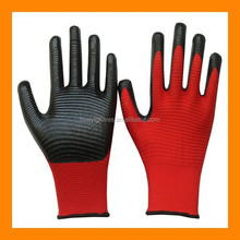 13G Nylon Ridged Palm Nitrile Coated Gloves