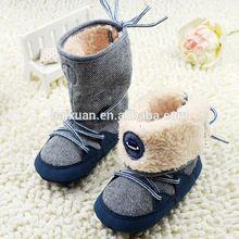fábrica de venta directa de 2015 niñas y niños de cuero suave zapatos de bebé de invierno de la primavera y el otoño de botas