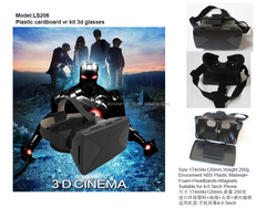 customized logo printing vr reality google carboard 3d glasses for3.5-6.0 screening phone