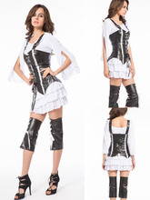 Ladies Pirate Deluxe Costume Womens Halloween Party Dress + Hat 8476