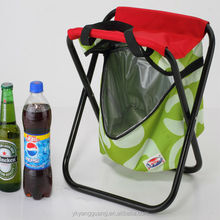 Camping folding cooler bag chair