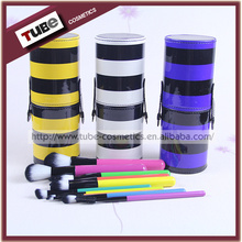 2015 Hot Products Makeup Brush Set 10 piece Colorful Makeup Brushes With Makeup Sets Case