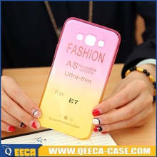 New 2015 fancy tpu color changing cell phone case cover for samsung galaxy e7 e700