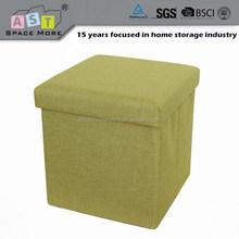 Modern fabric folding storage desk chair ottoman