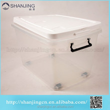 65L transparent Wholesale Cheap Plastic container with wheells and lid