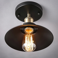 Black metal roundness vintage ceiling light classic simple style ceiling lamp