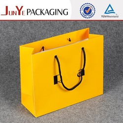 Promotional folded shopping paper jewelry bag with logo