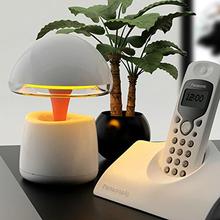 Portable bluetooth speaker mush led battery desk lamp mushroom shape connect via bleutooth or audio cable