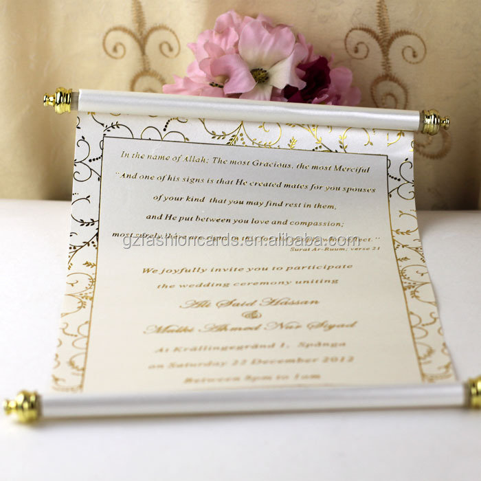 2015 Splendid Pop Up Arabic Roll Wedding Invitation Card - Buy Roll ...