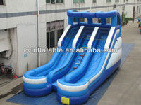 inflatable water slides china,inflatable water slides wholesale,hot selling double lane blue water slide