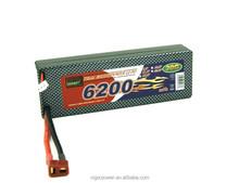 Batteria al litio ricaricabile 6200mah30c custodia rigida. 7.4v 2s per truggy rc auto