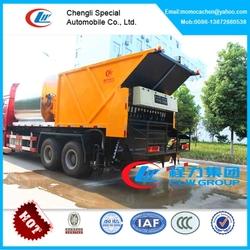 8cbm bitument asphalt tank and 12cbm gravel bucket synchronous chip sealer,asphalt mixer truck