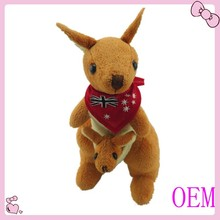 Factory high quality soft kangaroo toy for babies