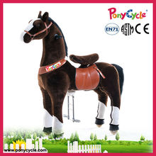 Human Power Plush Walking Horse Toy Pony Cycle for Kids and Adults