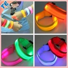 2015 Hot Sale custom slap wristband, glow in dark slap bracelet,arm band