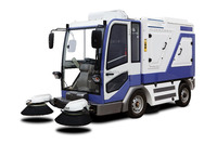 all-weather industrial electric ride-on vacuum road sweeper