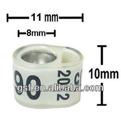 Customized Belguim racing bands newest unique design pigeon leg bands for sale ,factory making