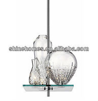 2015 Hot Sale Popular Classic Creative Decorative Cicatrices Ceramic Crystal Vases Glass Modern Chandelier SH01PDGL0253