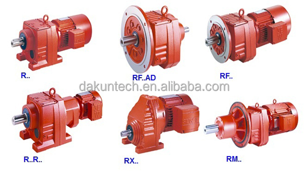 High quality R series helical transmission speed gear motor