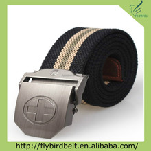 Ali express alloy embossed logo buckle for custom duty belt