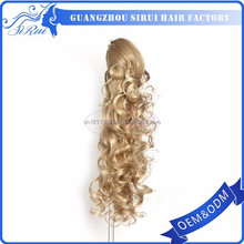China manufacturer synthetic hair claw ponytail, hair claw ponytail red, hair clip ponytail holder