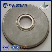 metal edge covering multilayer filter disc